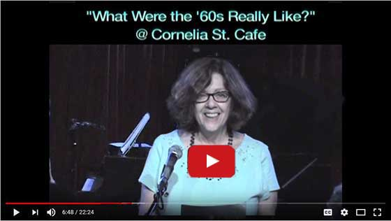 What were the '60's really like, a reading of her novel by Rifka Kreiter
